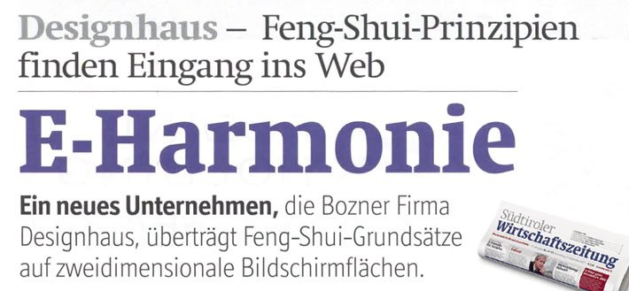 e harmonie web shui news designhaus bozen web design logo design corporate design. Black Bedroom Furniture Sets. Home Design Ideas